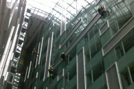 LED lights installing Park Plaza